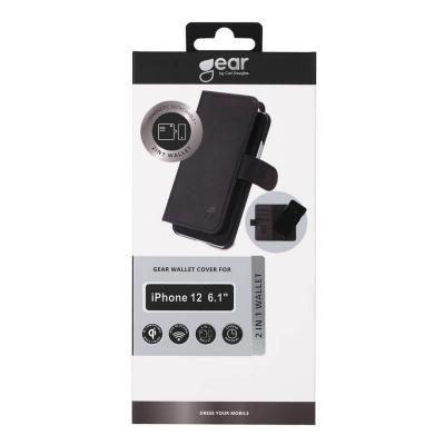 GEAR 2‑i‑1 Fodral med magnetskal, iPhone 12/12 Pro, svart