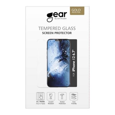 GEAR Skärmskydd i härdat glas incl. ram, iPhone 12 Pro Max, 2.5D