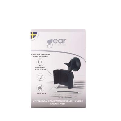Gear universal mobilhållare med kort arm, svart