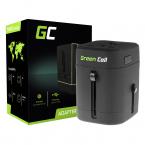 Green Cell Universaladapter till eluttag med USB-uttag, svart
