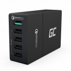 Green Cell Laddningsstation, 5xUSB, Quick Charge 3.0