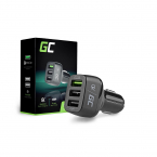 Green Cell Billaddare med 3xUSB and Quick Charge 3.0