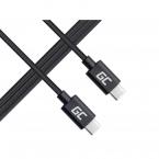 Green Cell USB-C till USB-C-kabel, PD, 60W, 480 Mbps, 1m, svart