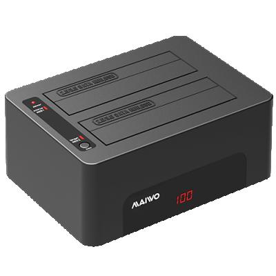 HDD/SSD Dockningsstation med två platser, USB 3.1, display 5Gbps