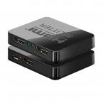 HDMI 1x2 Splitter, 4K, 3D, svart