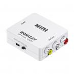HDMI till AV Konverter, 1080P, vit