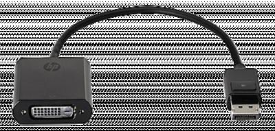 HP DisplayPort till DVI‑D adapter, 0,1m, svart