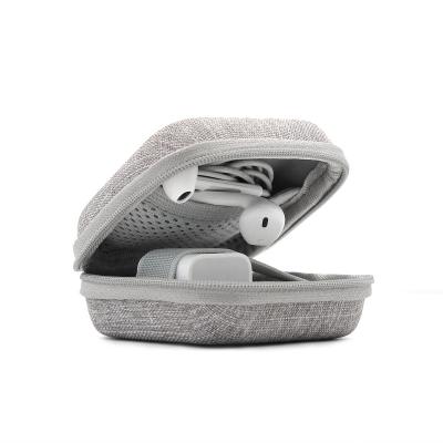 Hörlursväska i slitstarkt tyg, grå