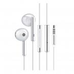Huawei AM116 hörlurar med mikrofon, vit