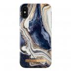 iDeal Fashion Case iPhone X/XS, Golden Indigo Marble