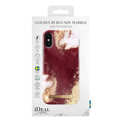 iDeal Fashion Case magnetskal till iPhone X/XS, Golden Burgundy