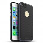 IPAKY Hybrid TPU skal till iPhone 8/7 Plus, svart