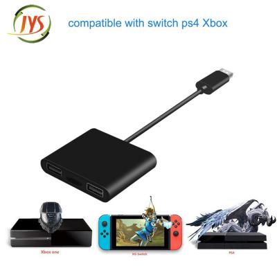 Tangentbord‑ och musadapter för Switch/XBox One/PS4, svart
