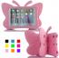 Fjärilsformat barnfodral till iPad 10.2/Pro 10.5/Air 3, ljusrosa