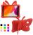 Fjärilsformat barnfodral till iPad 10.2/Pro 10.5/Air 3, röd