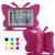 Fjärilsformat barnfodral till iPad 10.2/Pro 10.5/Air 3, rosa