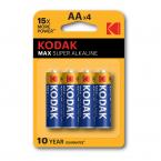 Kodak MAX alkaline AA batterier (4 pack)