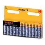 Kodak MAX alkaliska AAA-batterier, 1.5V, 12-pack