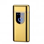 Kompakt Elektrisk tändare med fingeravtryck sensor, guld