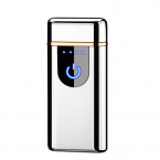 Kompakt Elektrisk tändare med fingeravtryck sensor, silver