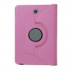 Läderfodral med ställ till Samsung Galaxy Tab S2 8.0, rosa