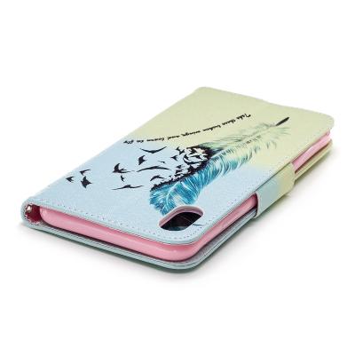 Läderfodral med ställ/kortplats, fjäder, iPhone XS Max