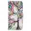 Läderfodral med ställ/kortplats, träd, iPhone 11 Pro Max