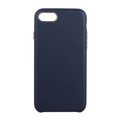 Luxury Slim läderskal till iPhone 7/8, mörkblå