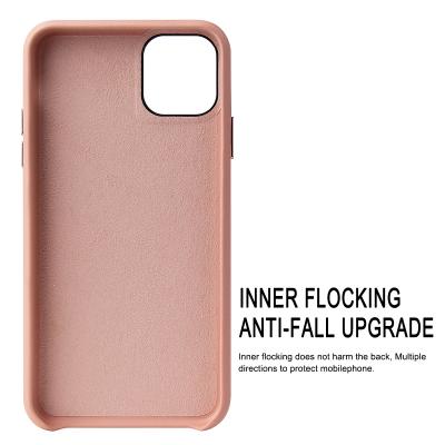 Luxury Slim läderskal till iPhone 7/8, rosa