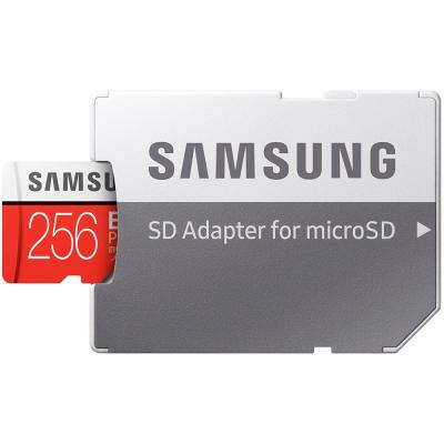 Samsung EVO Plus microSDXC 100MB/s med SD‑adapter, 256GB