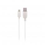 Maxlife Lightning-kabel med Fast Charge, 2A, 3m, vit