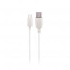 Maxlife microUSB-kabel med Fast Charge, 2A, 3m, vit