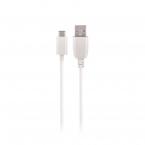 Maxlife USB-C-kabel, 1A, 1m, vit
