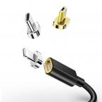 McDodo CA-550 3-i-1 magnetisk kabel, 2.4A, 1.5m