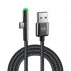 McDodo CA-6390 90° USB-C kabel med LED, 1.5m, svart