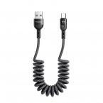 McDodo CA-6421 Flexibel USB-C kabel med QC4.0, LED, 1.8m, grå