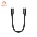 McDodo CA-7140 USB-C till USB-C kabel, 3A, 30W, 0.2m, svart