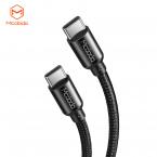 McDodo CA-7141 USB-C till USB-C kabel, 3A, 30W, 1m, svart