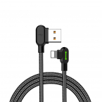 Mcdodo 90° Lightning kabel med LED, 1.8m, svart