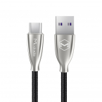 McDodo Excellence USB-C-kabel, LED, 5A, 1m, svart