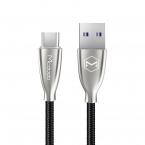McDodo Excellence USB-C-kabel, LED, 5A, 1.5m. svart