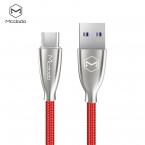 McDodo CA-5427 Excellence USB-C-kabel, LED, 5A, 2m, röd