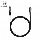 McDodo CA-7080 USB-C till Lightning kabel, PD, 3A, 1.2m, svart