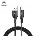 McDodo CA-7430 USB-C kabel med QC, 5A, 1.5m, svart