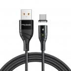 McDodo CA-886 Magnetisk USB-C kabel, FastCharge, 5A, 1.2m, svart