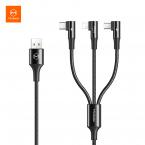 McDodo CA-888 3-i-1 kabel, MicroUSB/USB-C/Lightning, 3A, 1.2m