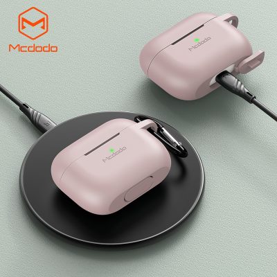 McDodo PC‑7602 Airpods skyddsfodral, LED, rosa