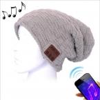 Mössa med Bluetooth-headset, ljusgrå