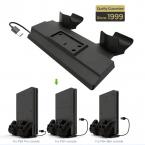 Multifunktionellt vertikalställ till PS4, svart