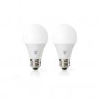 Nedis WiFi Smart LED-lampor E27 - Fullfärg och varmvitt, 2-pack